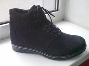 Зимние ботинки,  натуральный нубук. новые,  р.40. подойдут на 41,  42