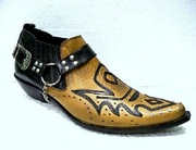 Песочные Казаки Etor мужские туфли на кожаной подошве. Стиль.