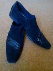 Продам туфли замшевые черного цвета