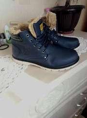 Кожаные зимние ботинки 44 размер